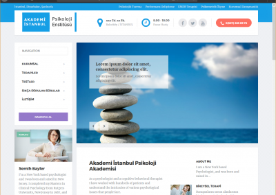 Akademi İstanbul Kurumsal Web Sitesi