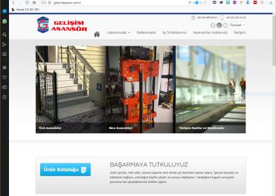 Gelişim Asansör Web Sitesi